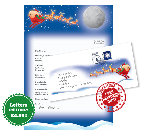 Letter from Santa with matching envelope