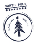 North Pole postmark on your letter from Santa