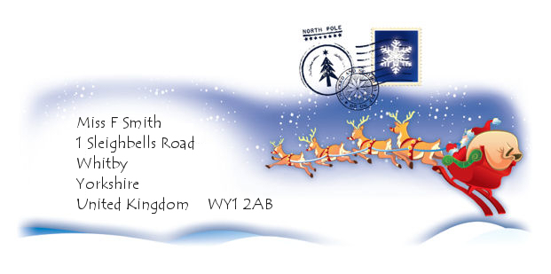Envelope that comes with your Letter from Santa (or Father Christmas) - Click to enlarge