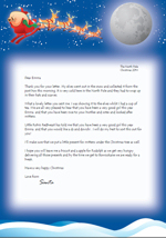 Sample reply letter from Santa/Father Christmas - Click to enlarge