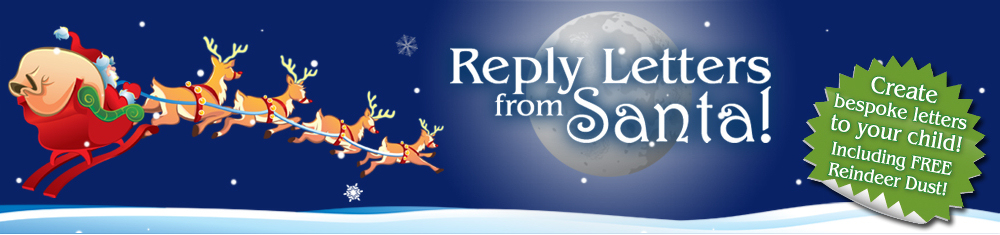 Create your own reply letters from Santa, Father Christmas or St Nicholas