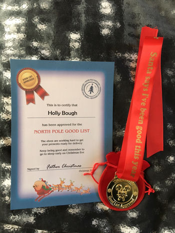 Santa's Good List Medals and Certificates